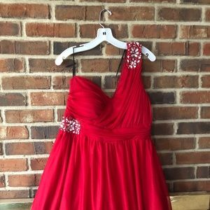 Homecoming red sparkly dress